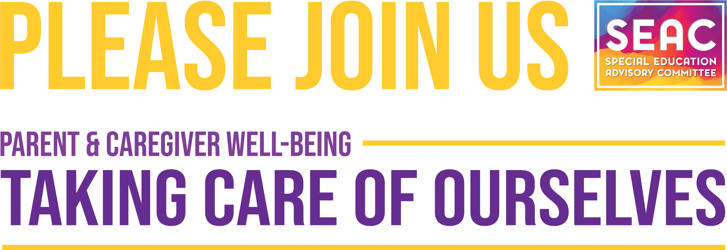 Parent & Care Giver Well Being Header